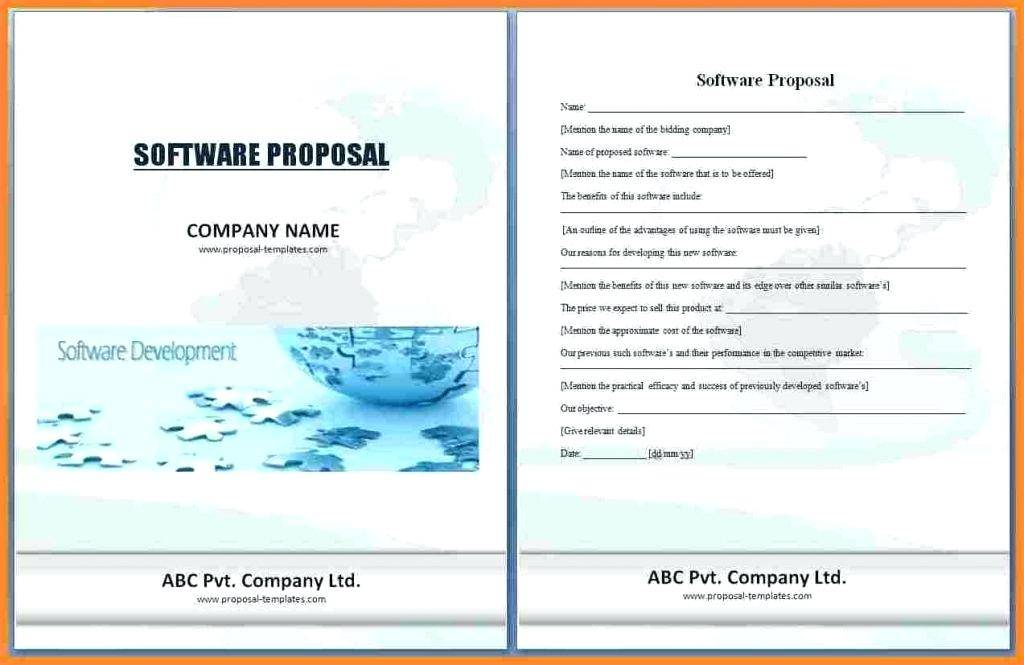 Software Financial Proposal Template