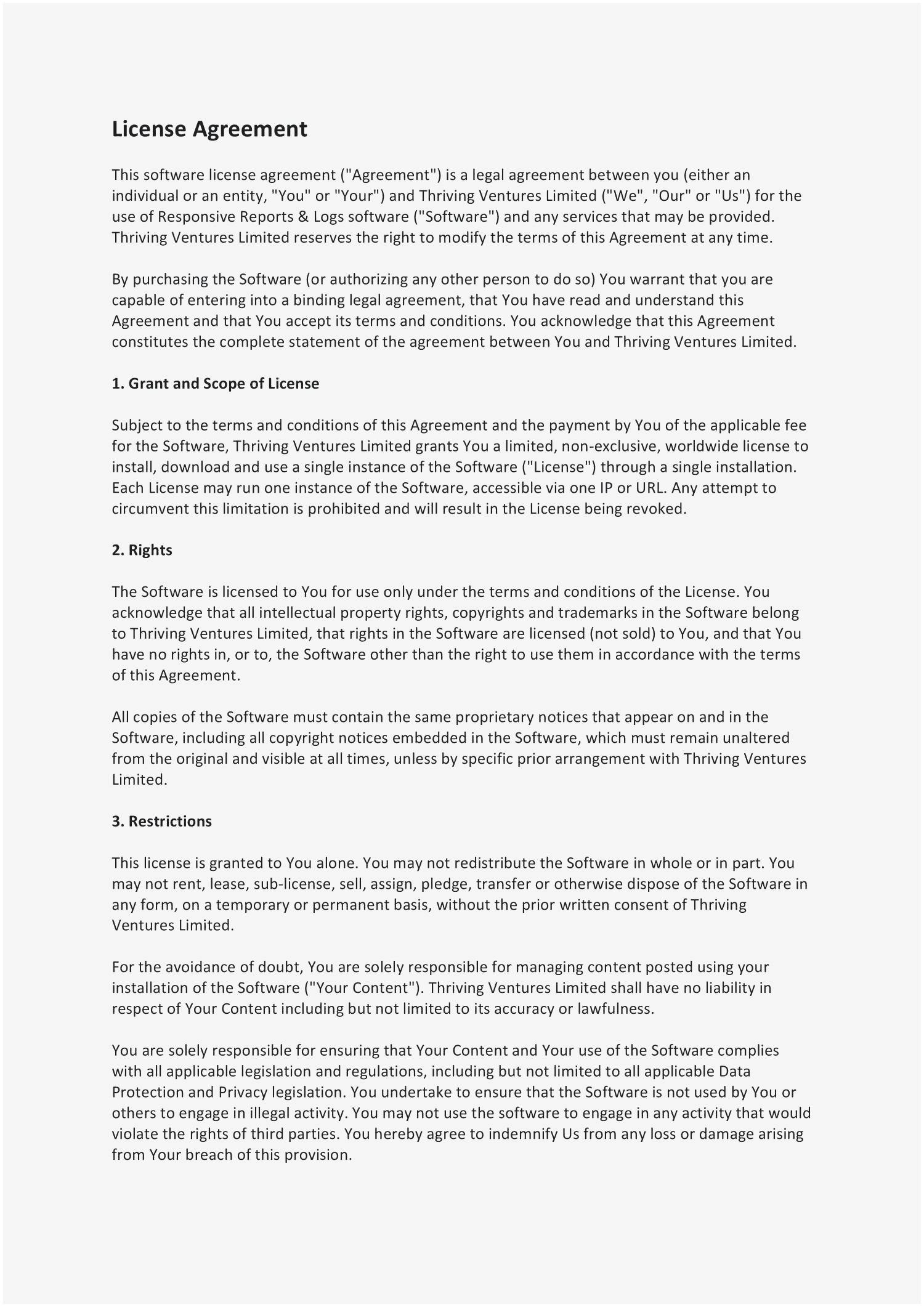 Software Licensing Contract Template