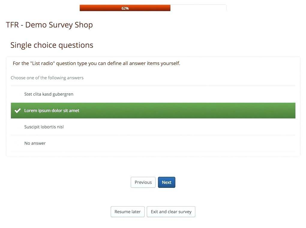 Software Questionnaire Template