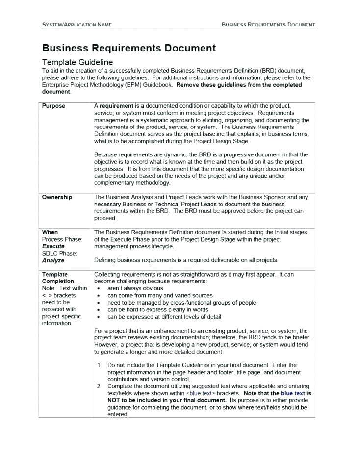 Software Requirement Gathering Questionnaire Template