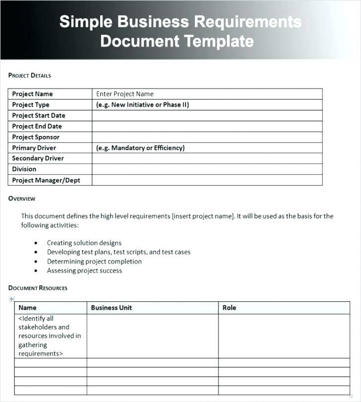 Software Requirements Questionnaire Template