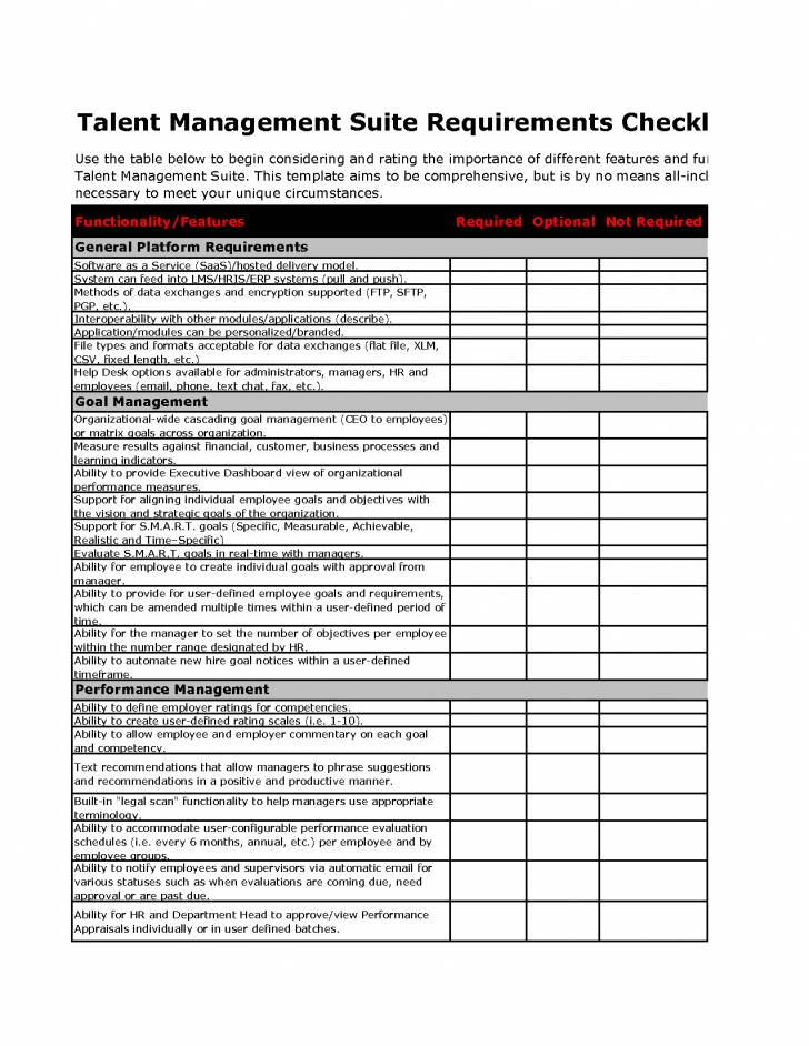 Software Requirements Traceability Matrix Template
