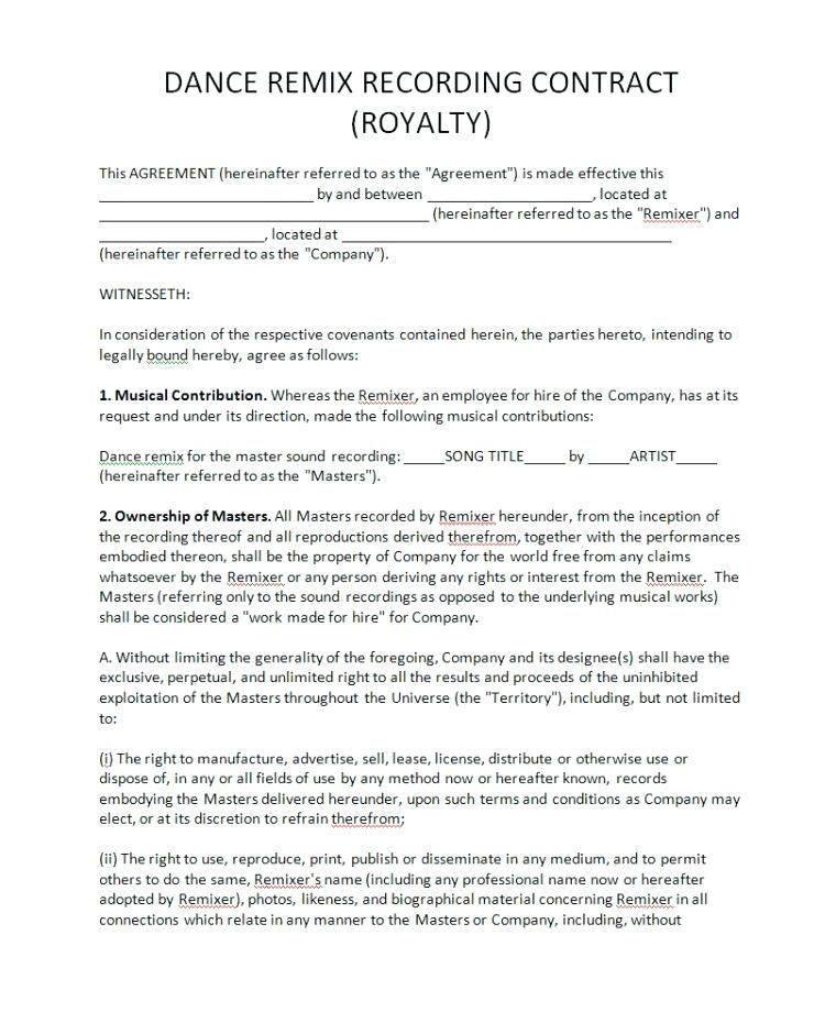 Software Royalty Agreement Template
