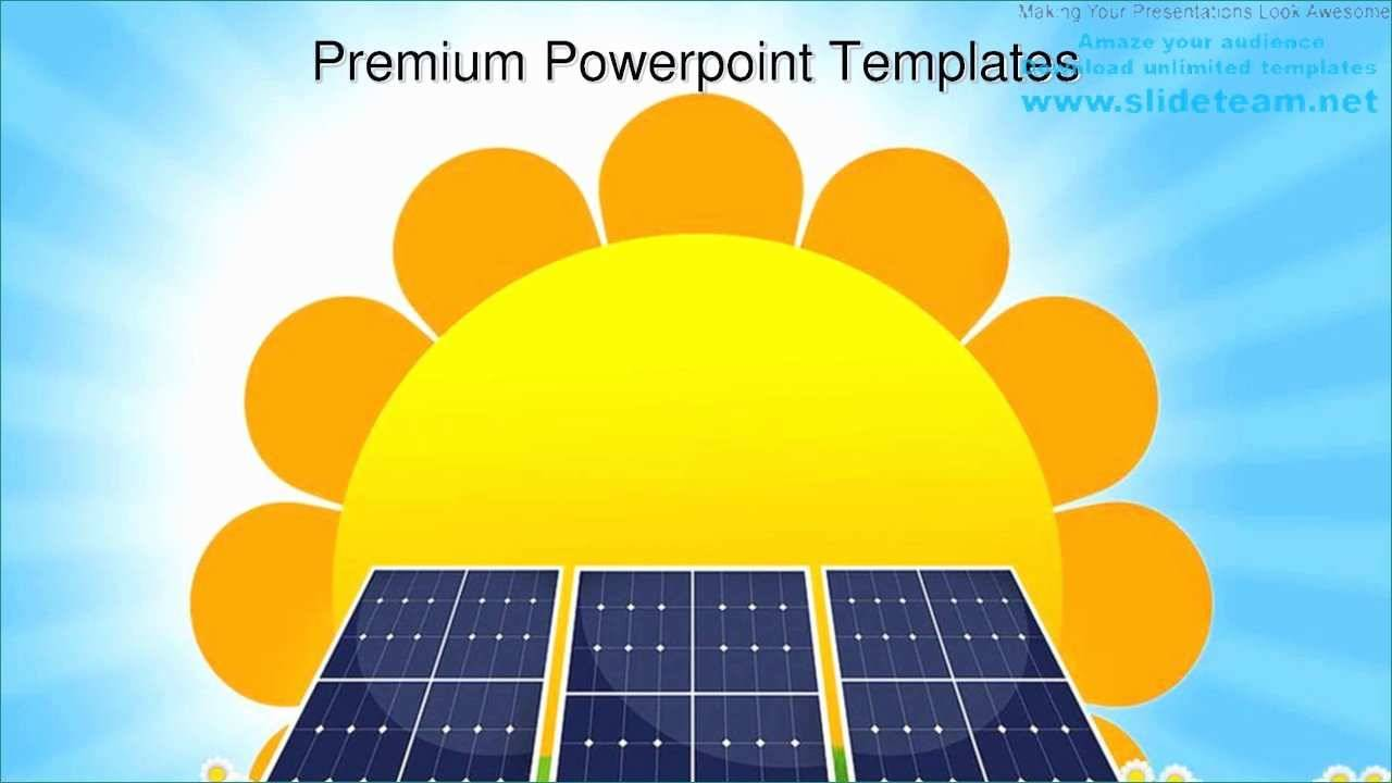 Solar Energy Powerpoint Templates Free Download