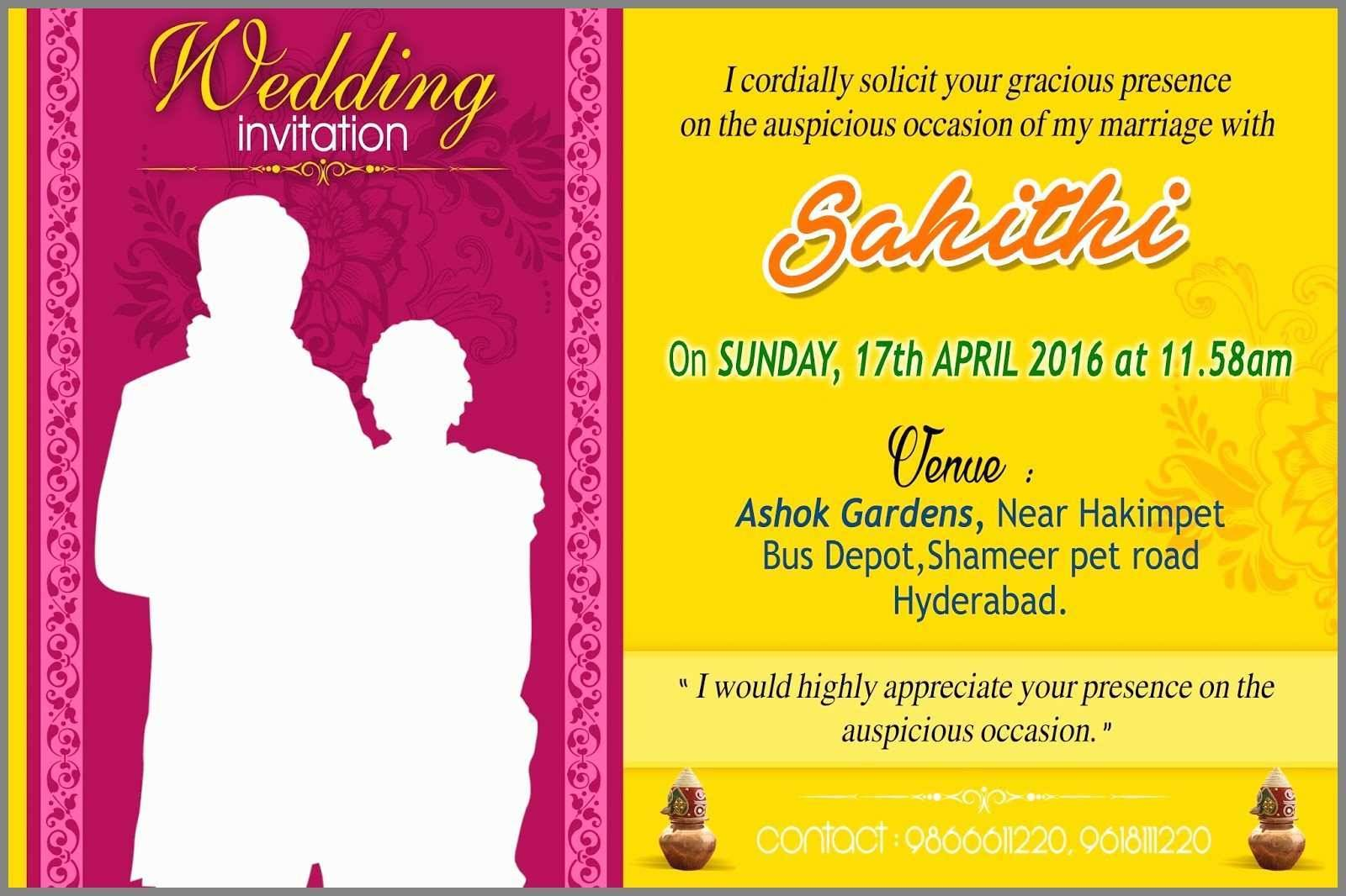 South Indian Wedding Invitation Templates Free Download