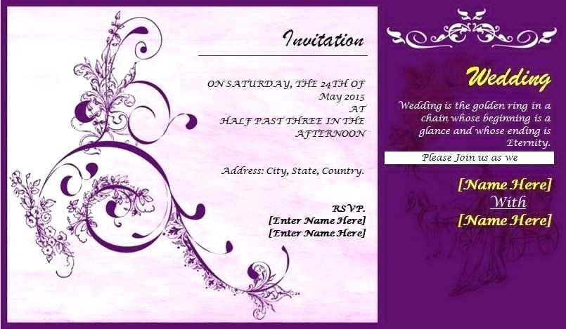 South Indian Wedding Invitation Templates