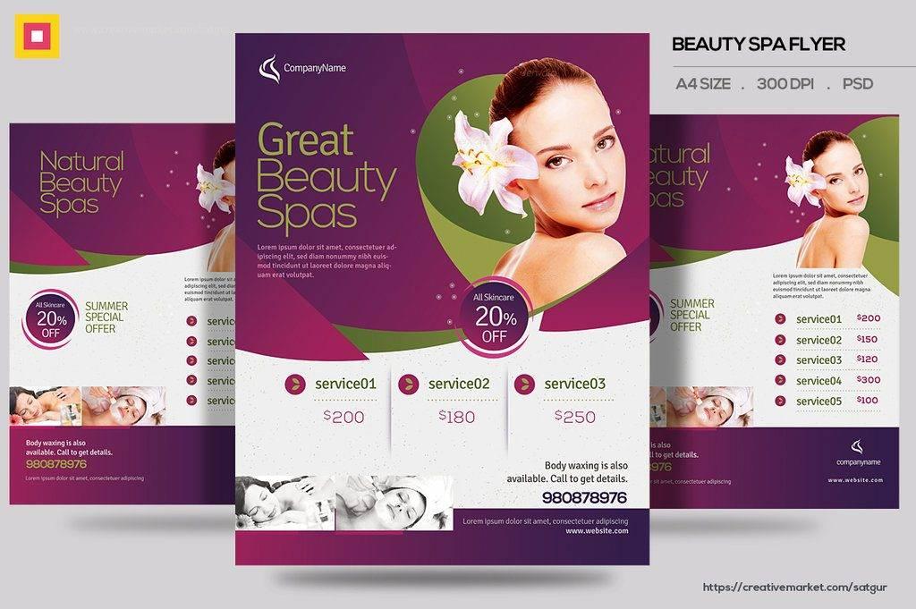 Spa Brochure Design Templates