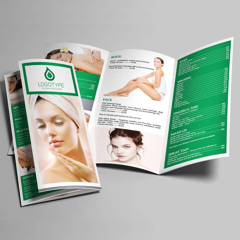 Spa Brochure Templates Psd