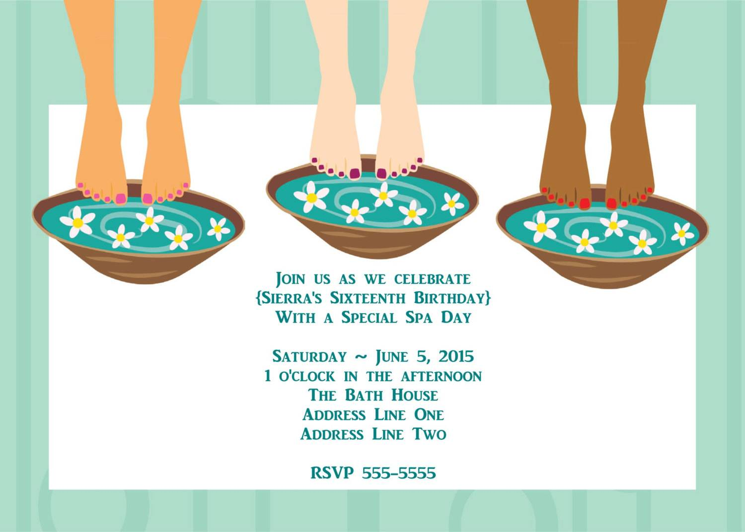 Spa Day Invitation Template
