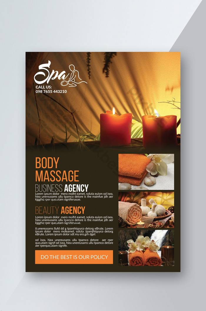 Spa Flyer Templates Free Download