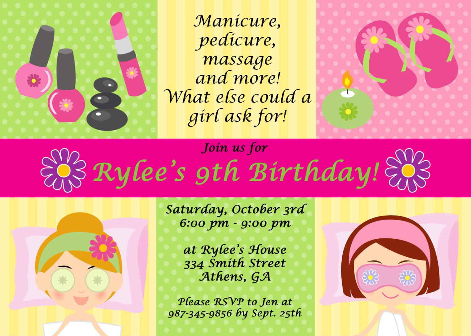 Spa Party Flyer Templates