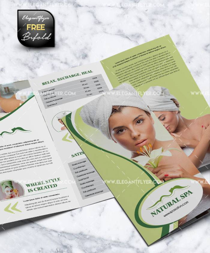 Spa Tri Fold Brochure Templates