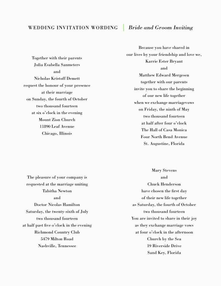 Spanish Wedding Invitation Wording Templates