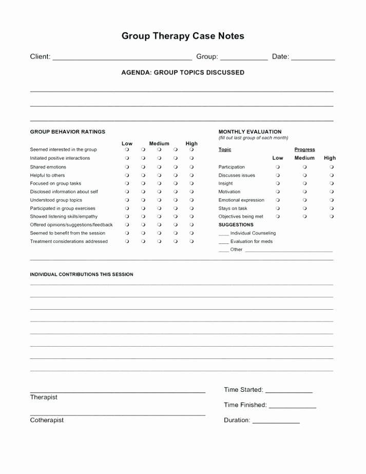 Speech Therapy Session Notes Template