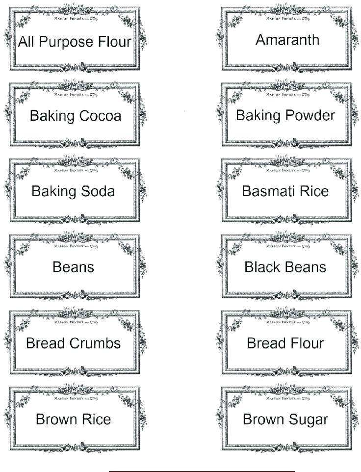 Spice Labels Template Download