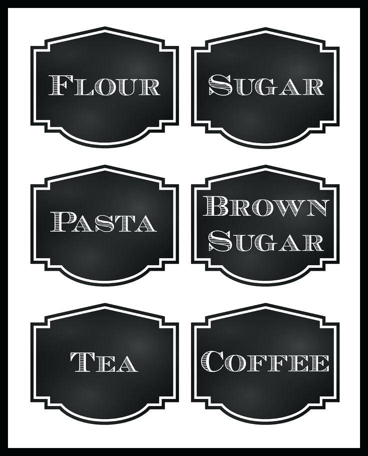 Spice Labels Word Template