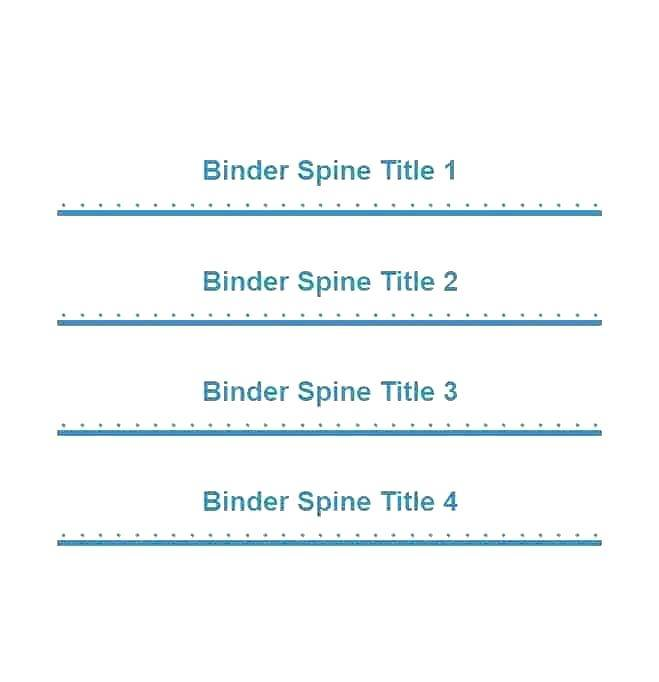 Spine Label Template For Books