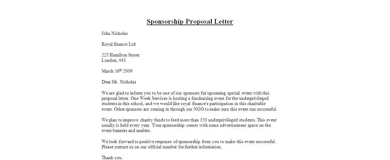 Sponsorship Forms Fundraising Templates
