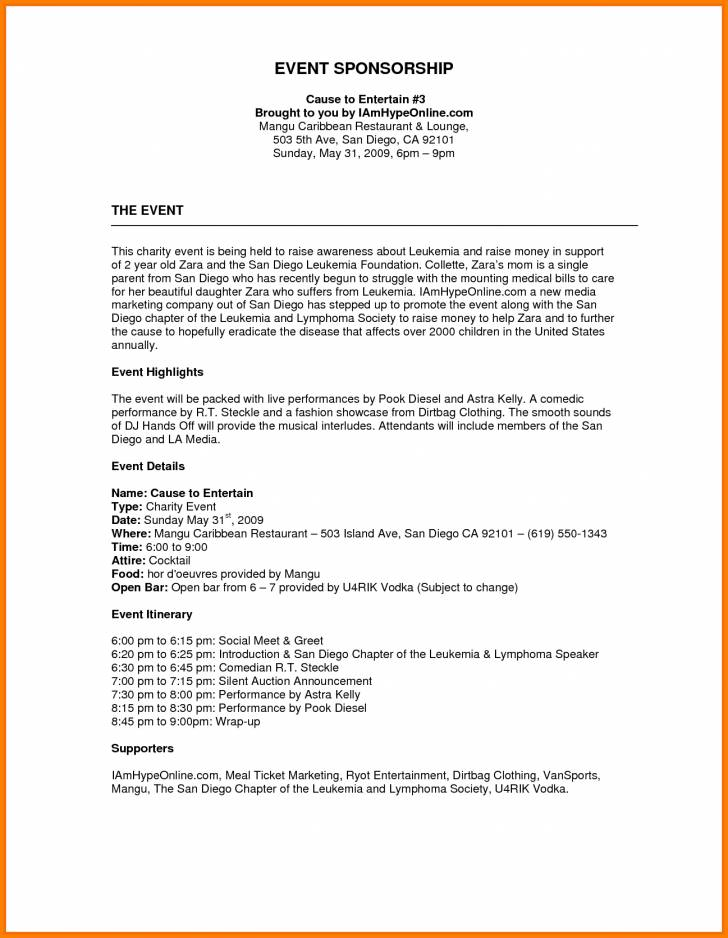 Sponsorship Proposal Template Free Download