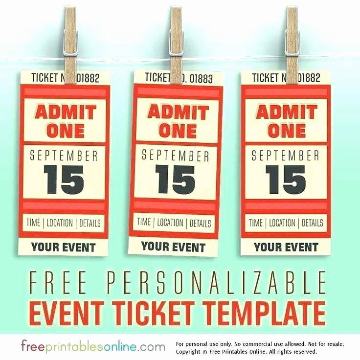 Sporting Event Ticket Template Word