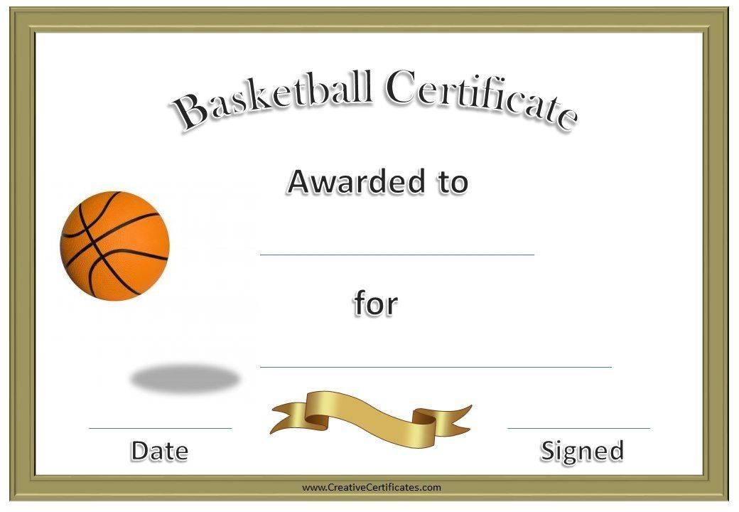 Sports Awards Certificates Templates Free