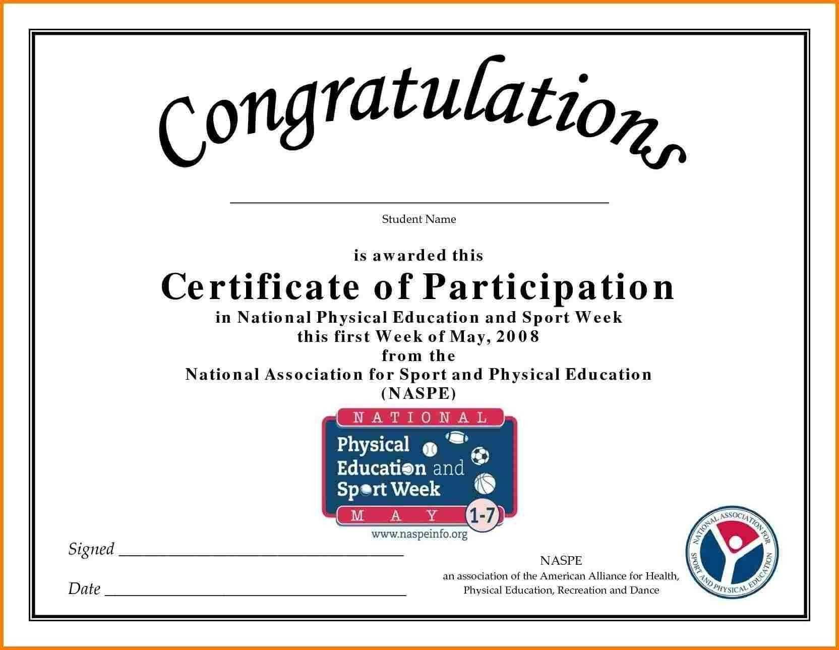 Sports Certificate Of Appreciation Templates Free