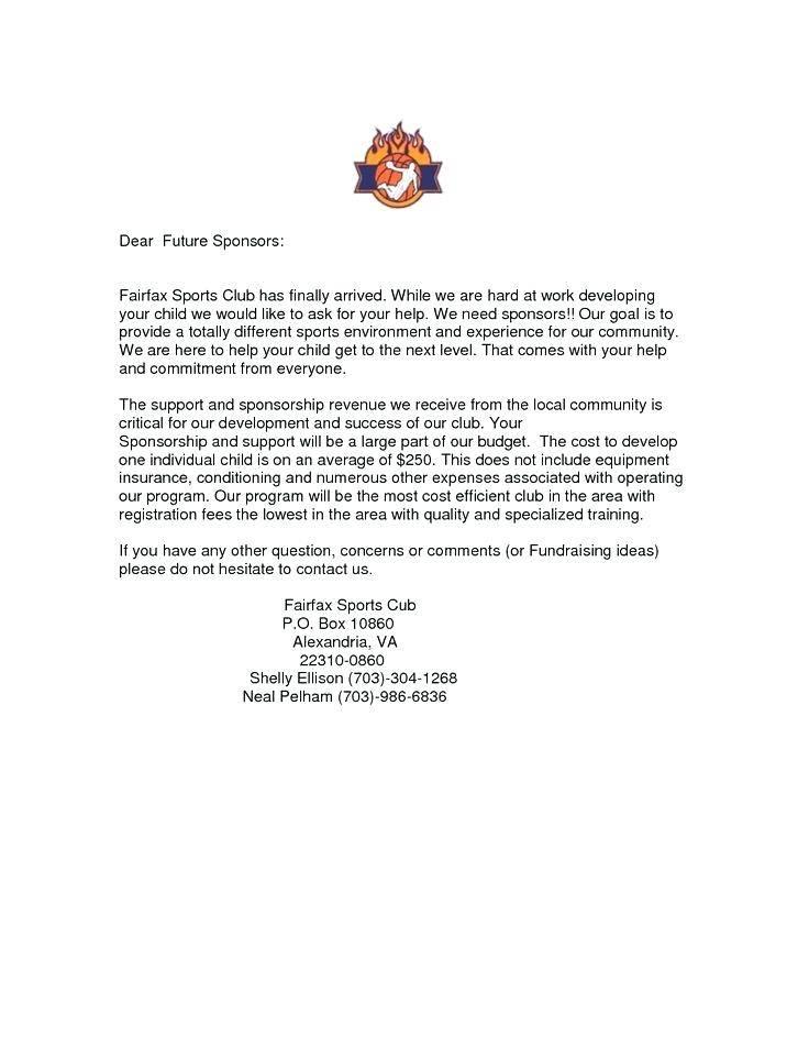 Sports Club Sponsorship Proposal Template