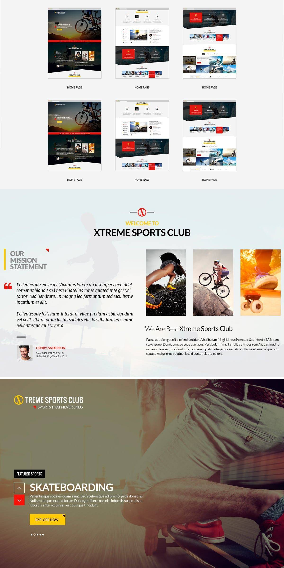 Sports Club Websites Templates