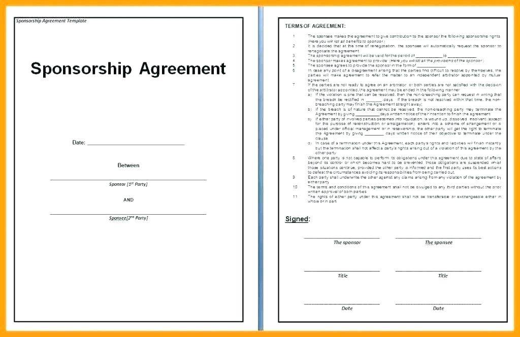 Sports Event Contract Template