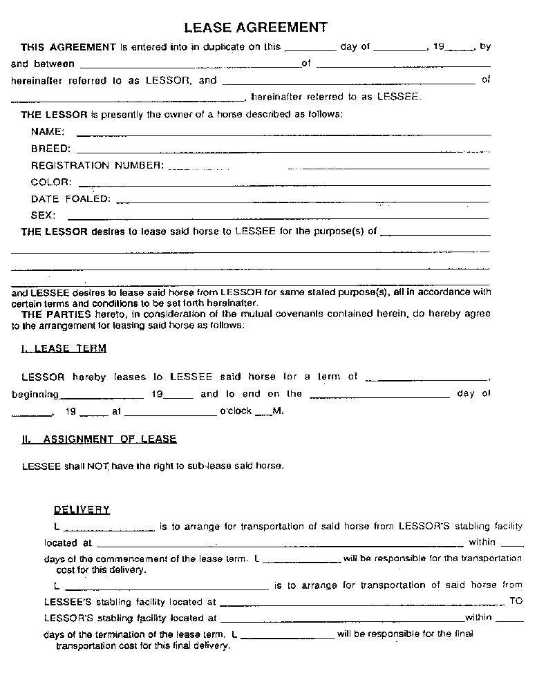 Sports Facility Rental Agreement Template