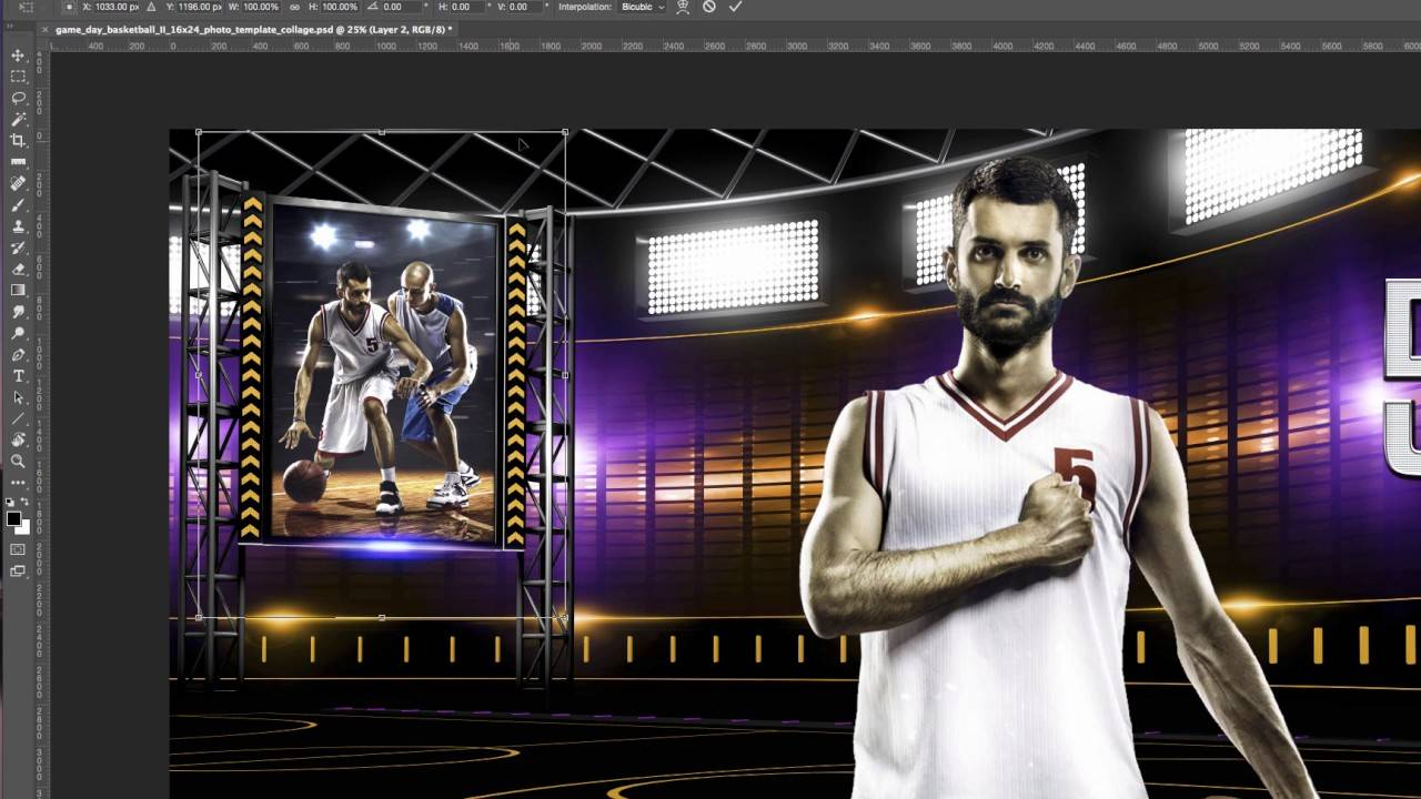 Sports Photo Collage Template