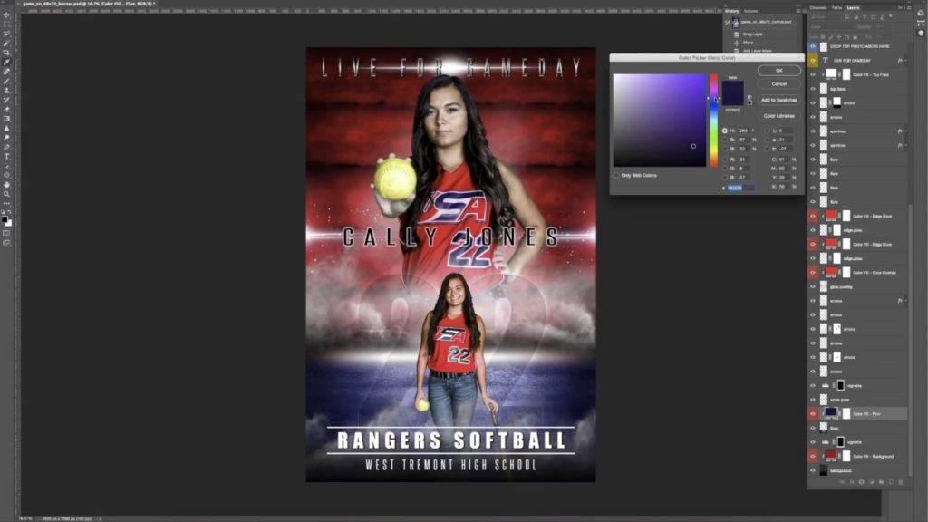 Sports Team Photo Collage Template