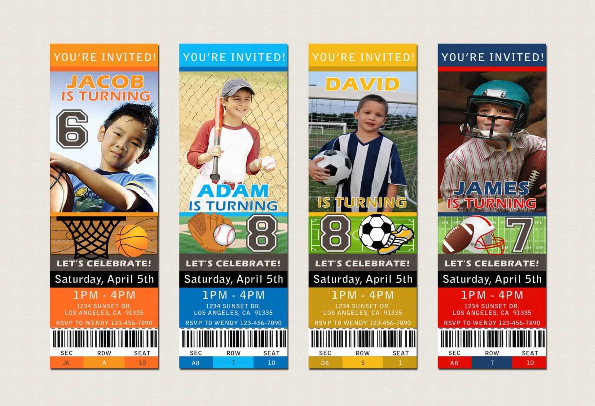 Sports Ticket Party Invitation Template