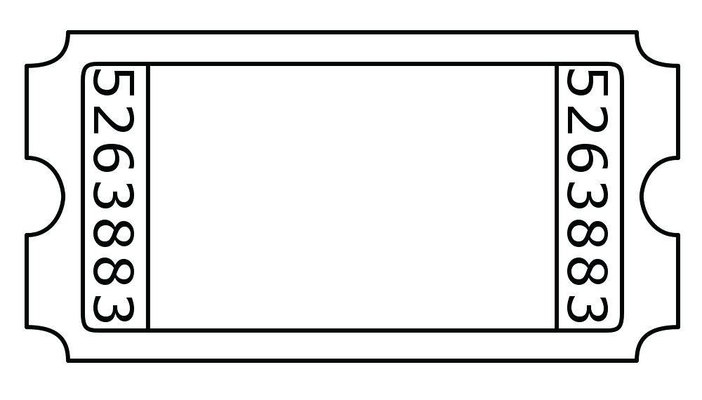Sports Ticket Stub Template