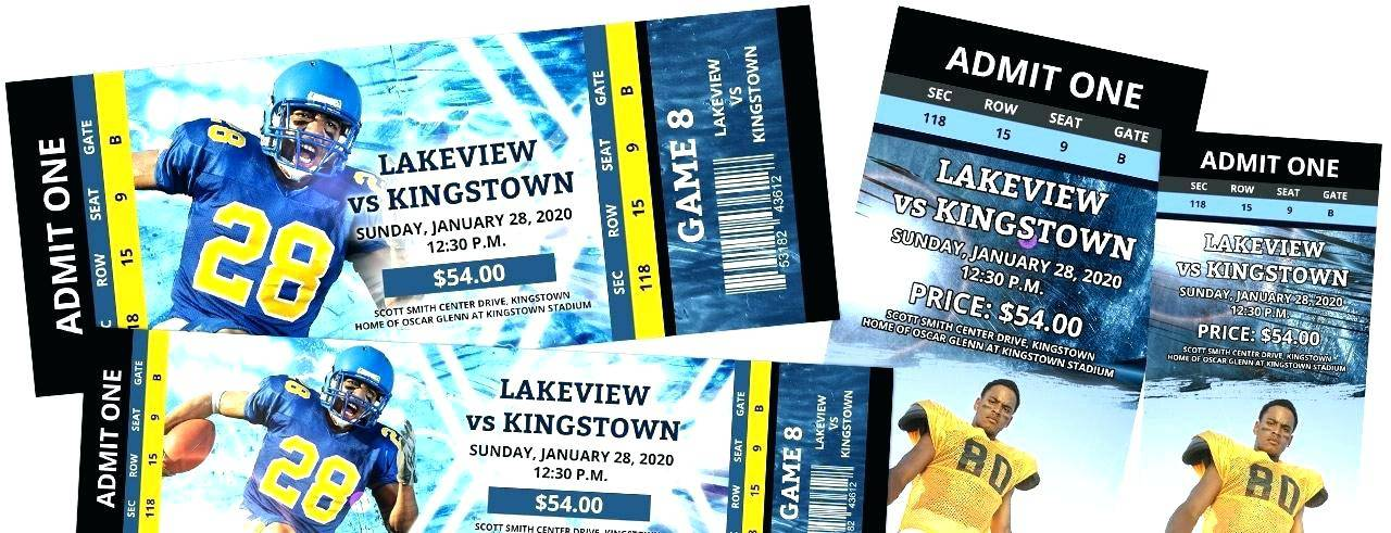 Sports Ticket Template Photoshop