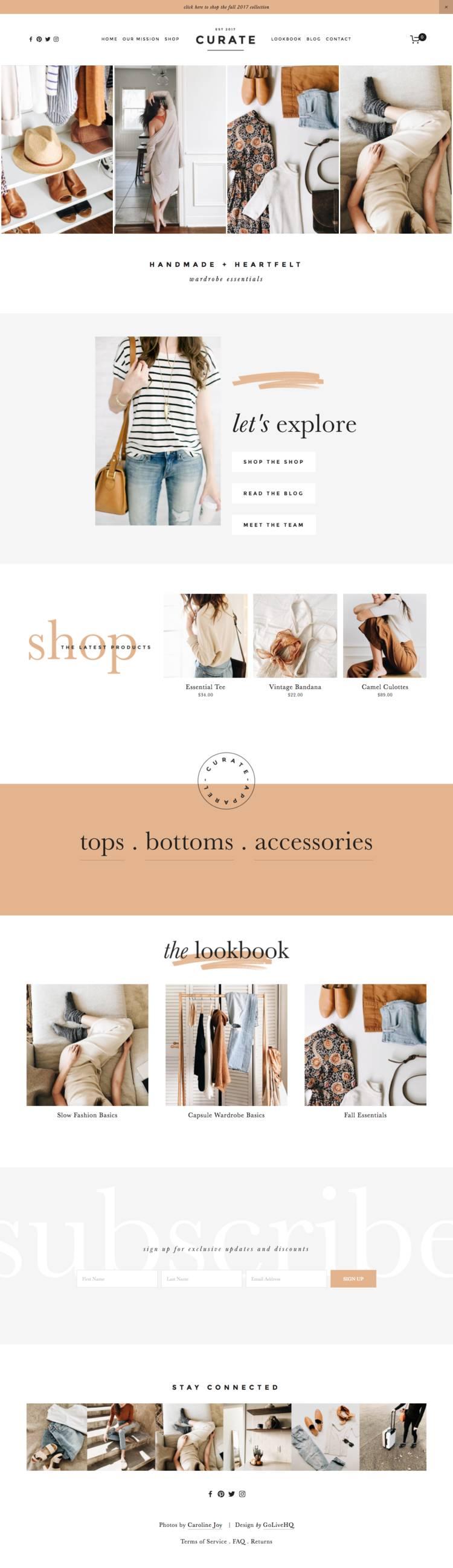 Squarespace Shop Templates