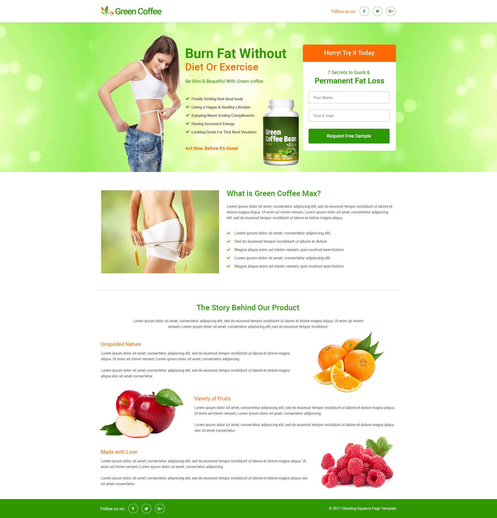 Squeeze Page Template Free