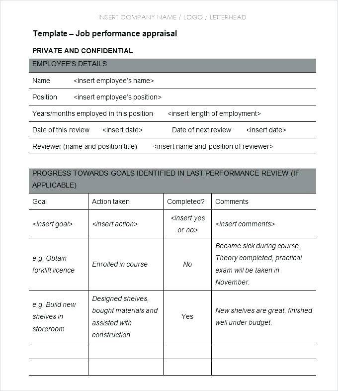 Staff Appraisal Examples Childcare