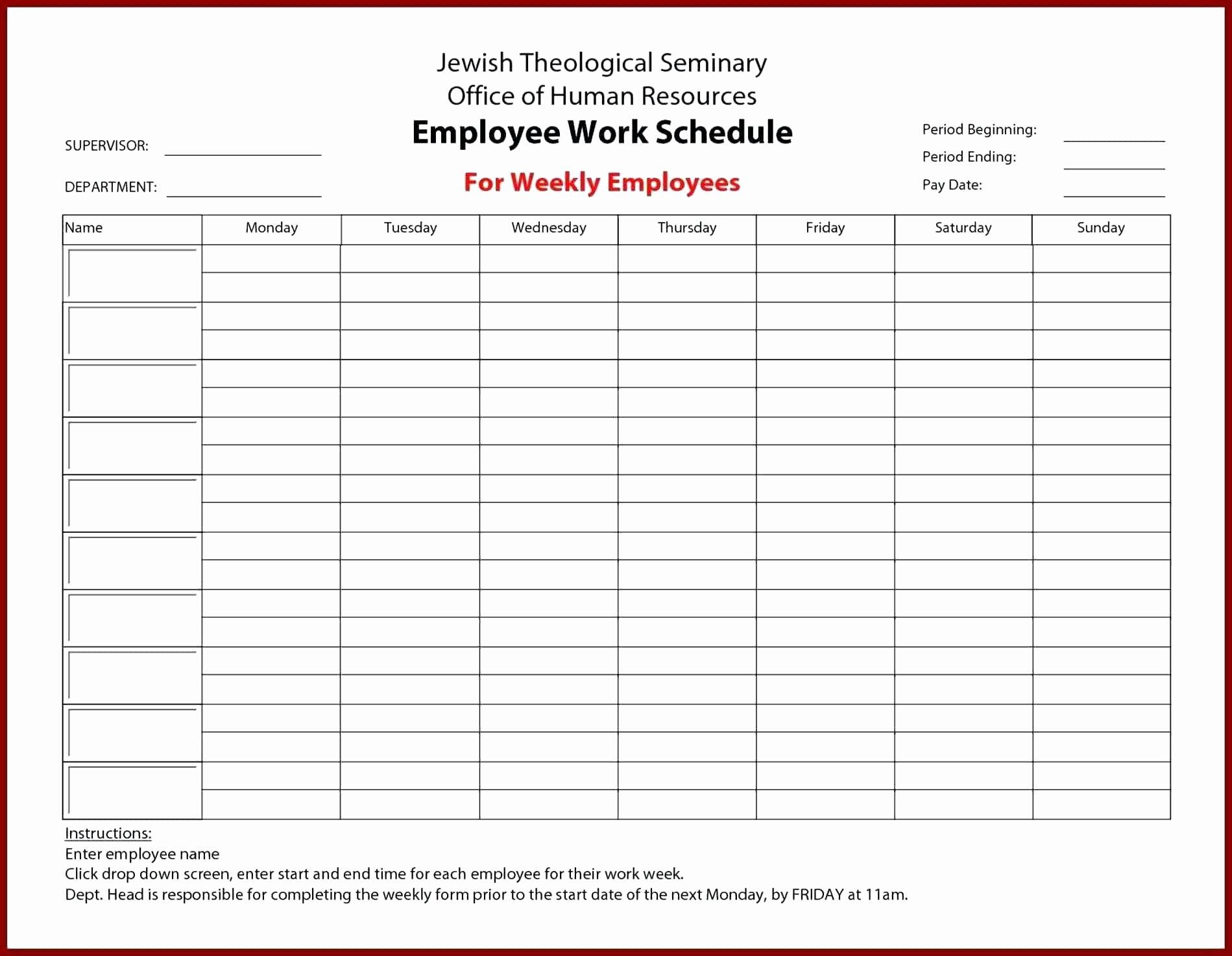 Staff Plan Template Excel