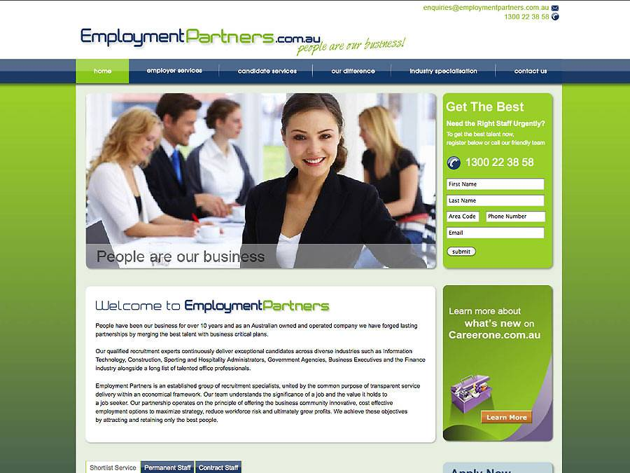 Staffing Agency Website Template