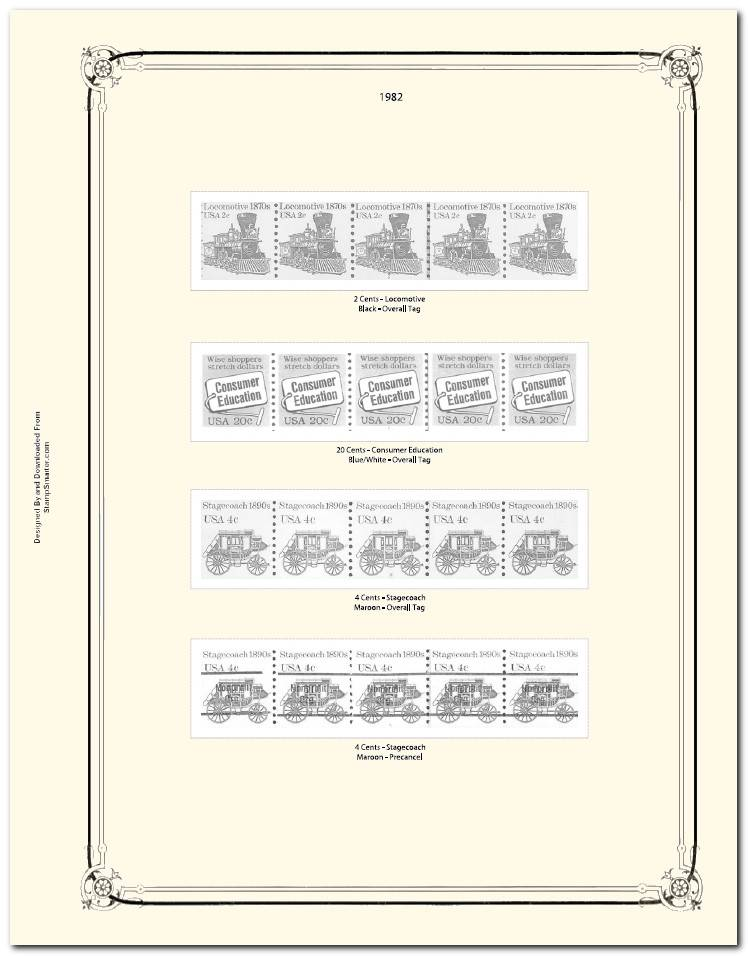 Stamp Album Pages Templates