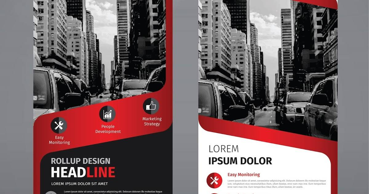 Stand Banner Template Corel