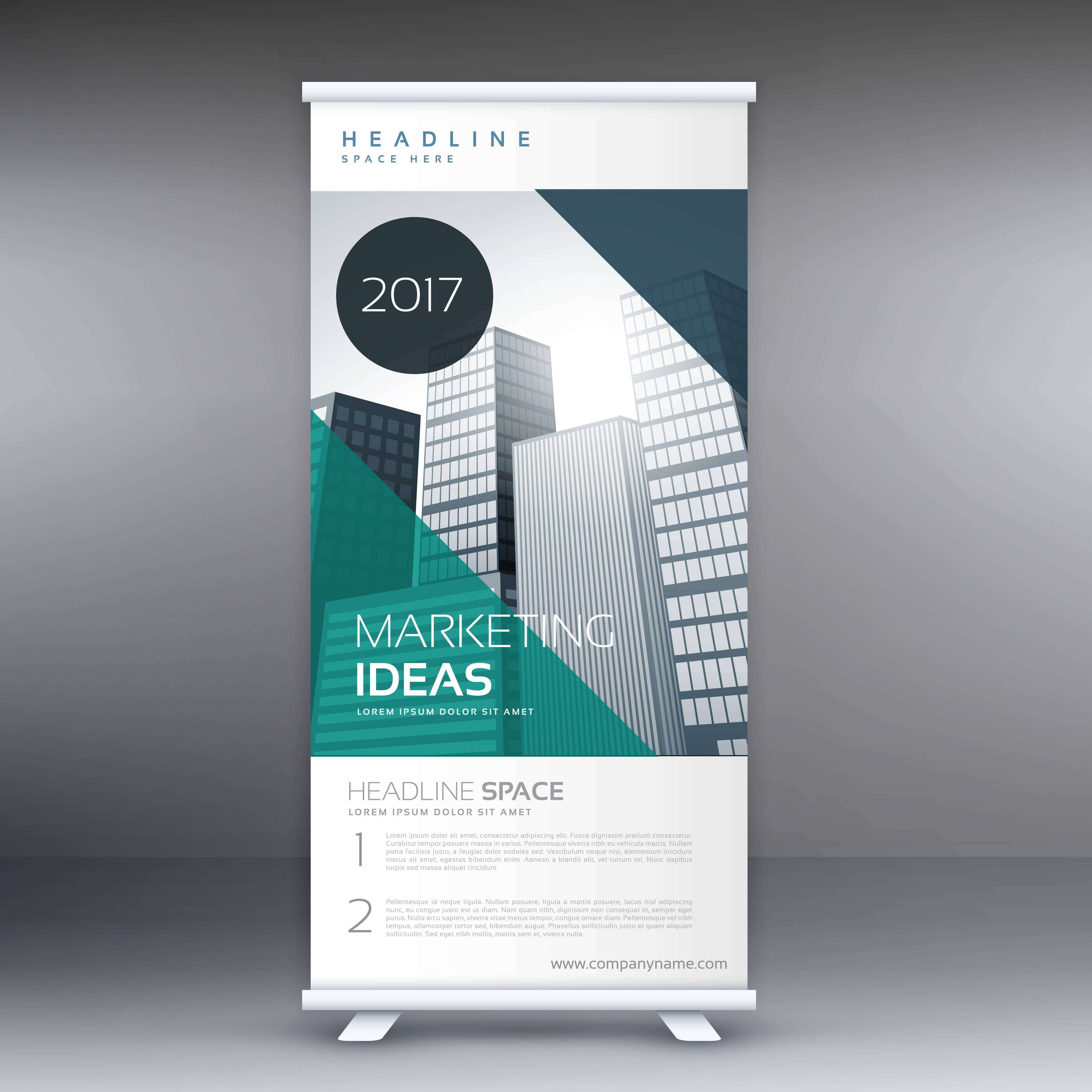 Stand Banner Template Vector Free Download