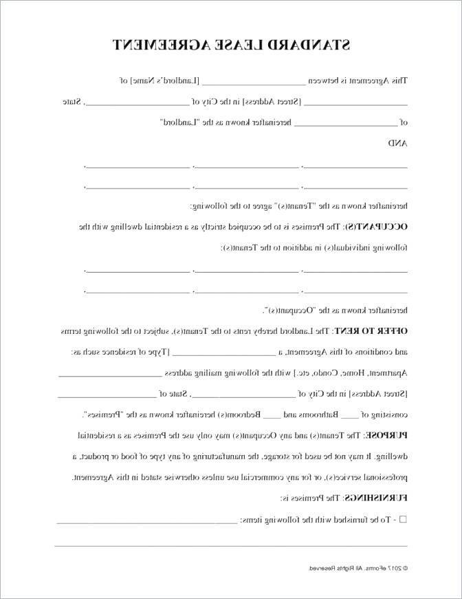Standard Business Lease Agreement Template