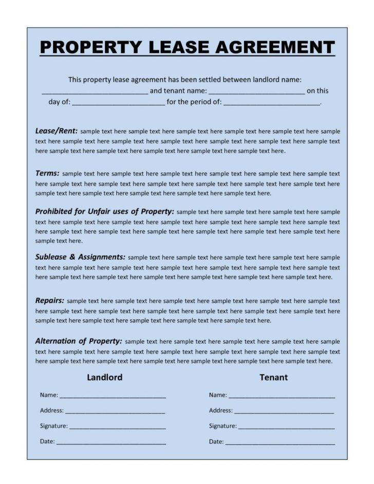 Standard Lease Agreement Template Word