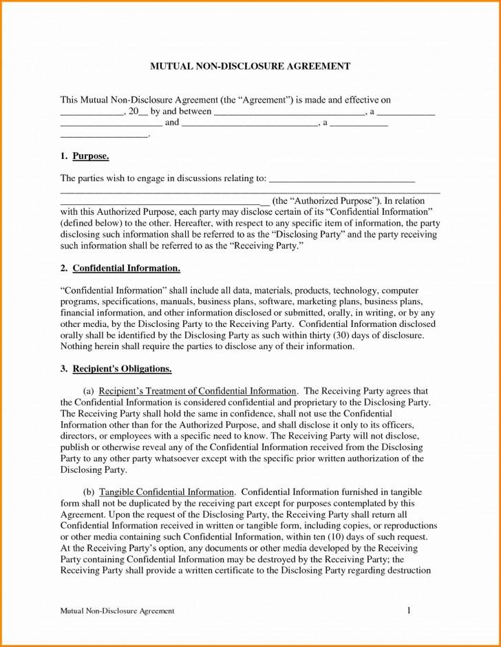 Standard Non Disclosure Agreement Template Uk