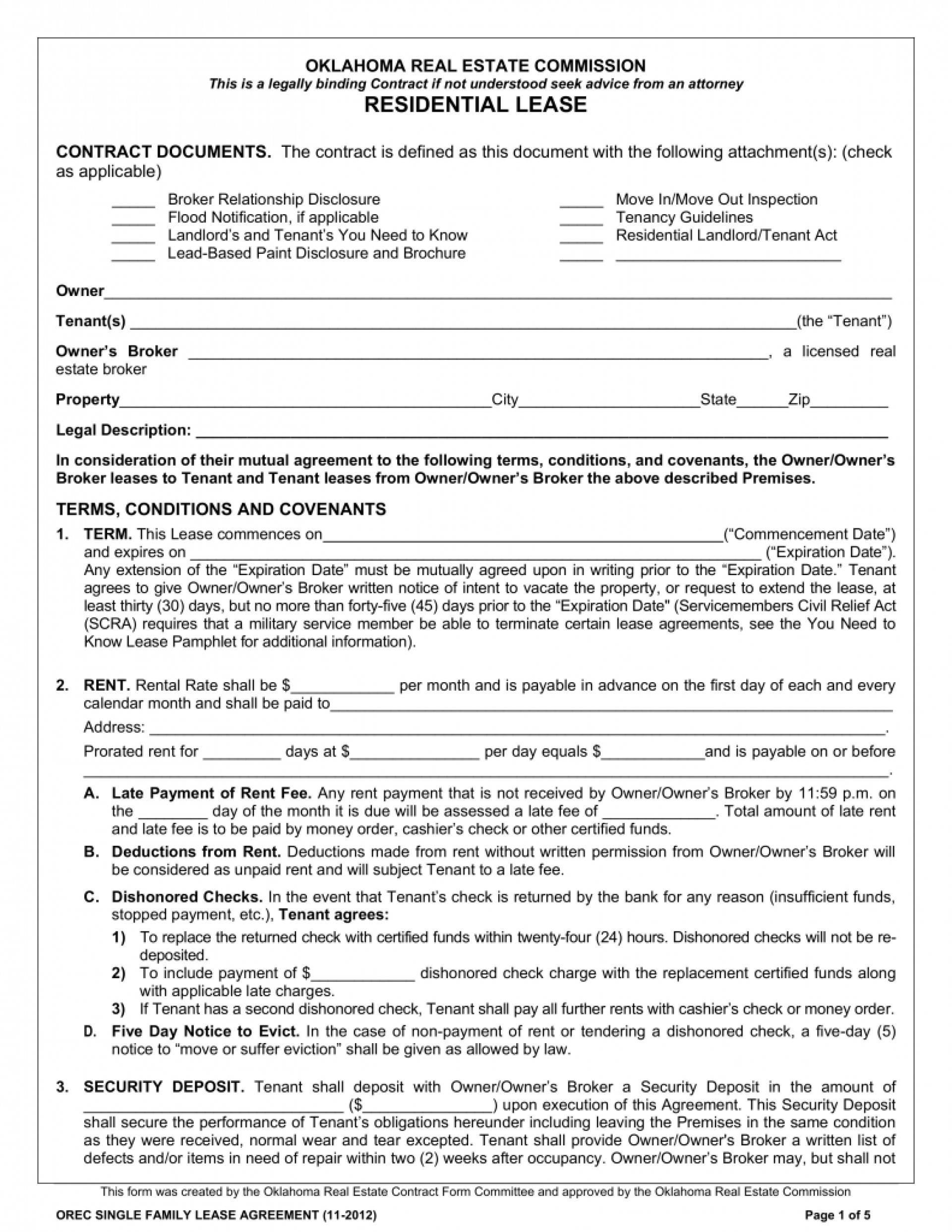 Standard Rental Agreement Template