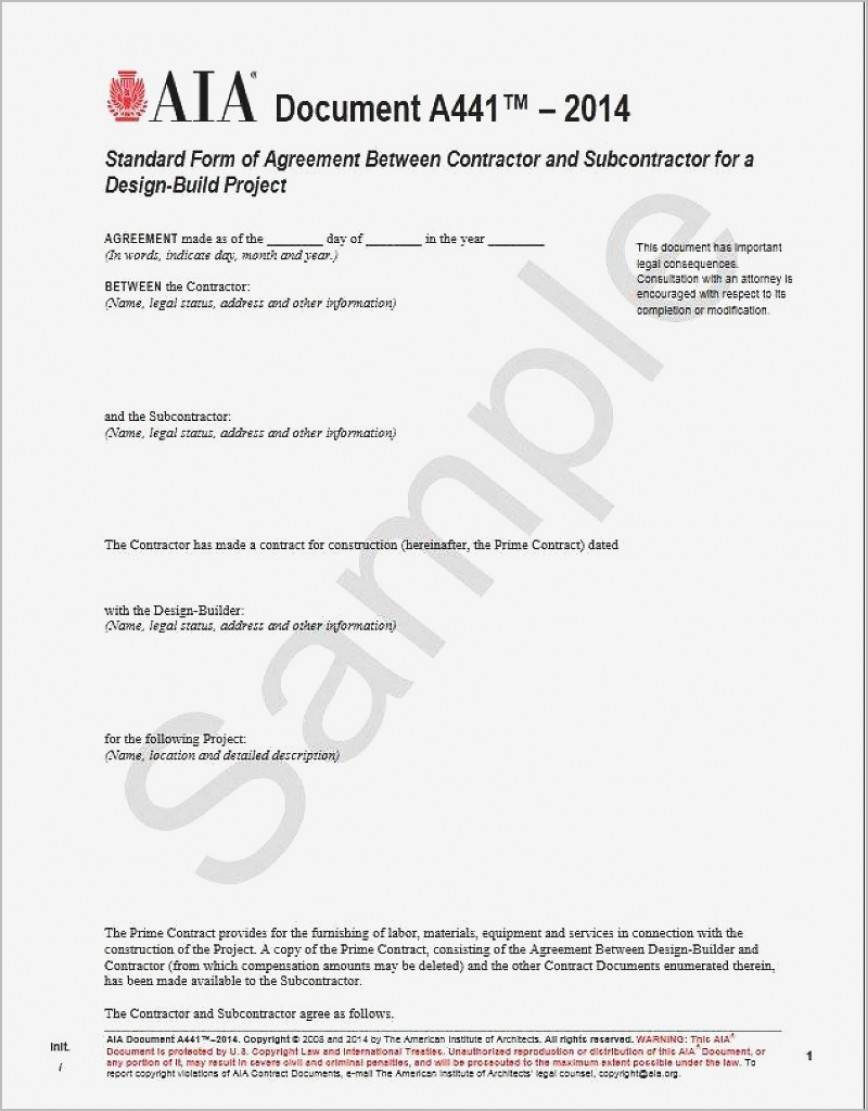 Standard Subcontractor Agreement Template