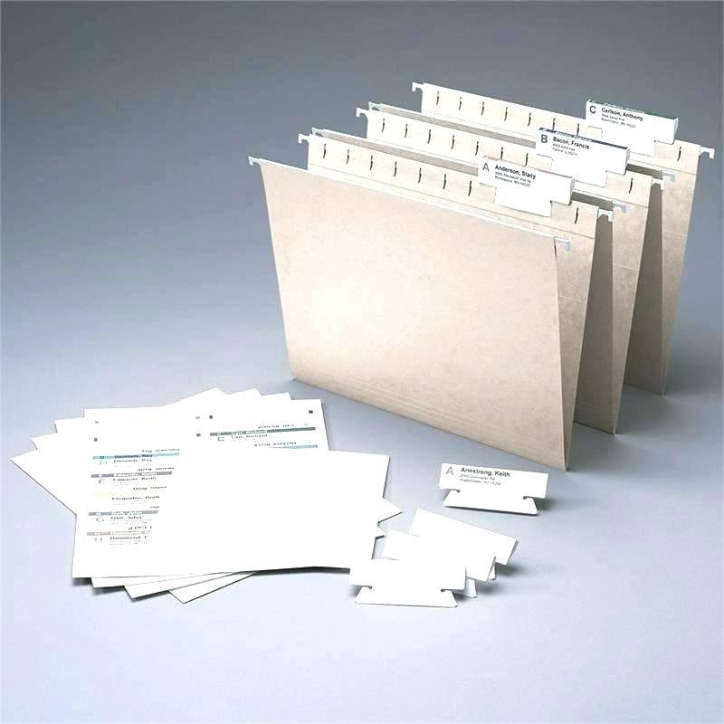 Staples Hanging File Folders Label Template