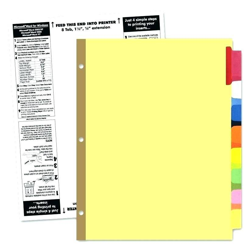 Staples Hanging Folder Tabs Template Word